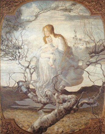 El ángel de la vida, de Giovanni Segantini