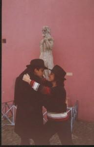 Bailando el tango en La Boca