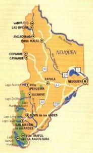 Neuquén, las principales localidades.